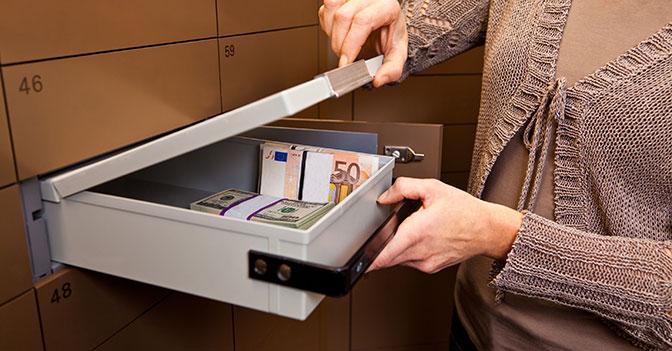 Cassette di sicurezza in banca